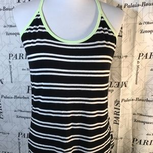 The Balance Collection S Tank Black White Yellow